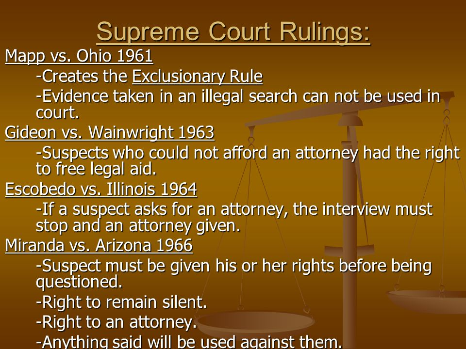 Supreme Court Rulings: