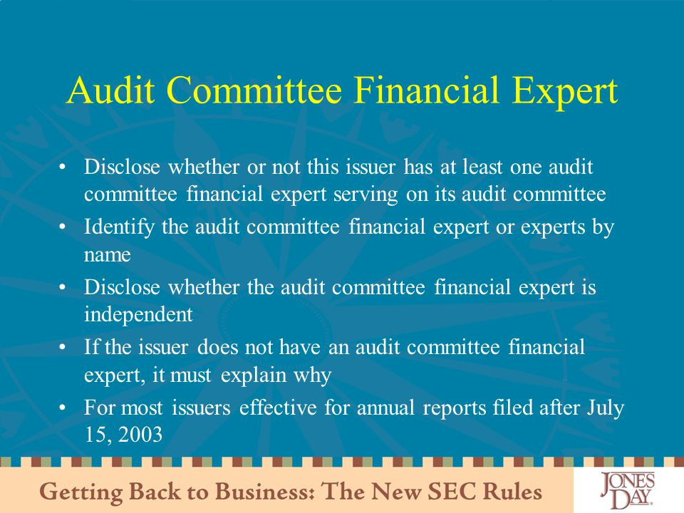 Audit Committee Financial Expert