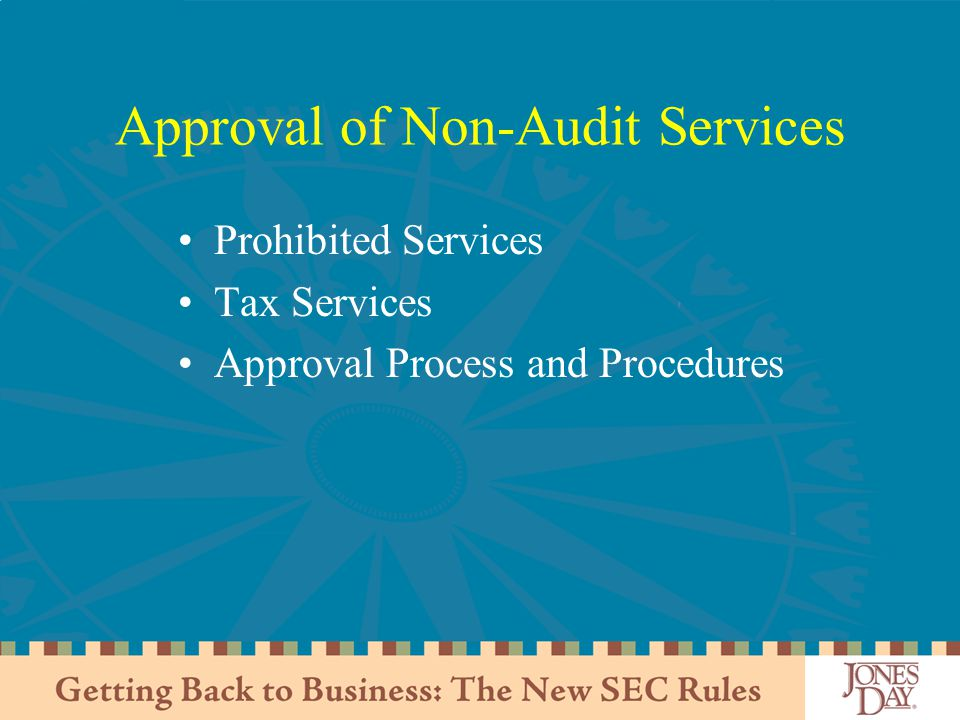 Approval of Non-Audit Services