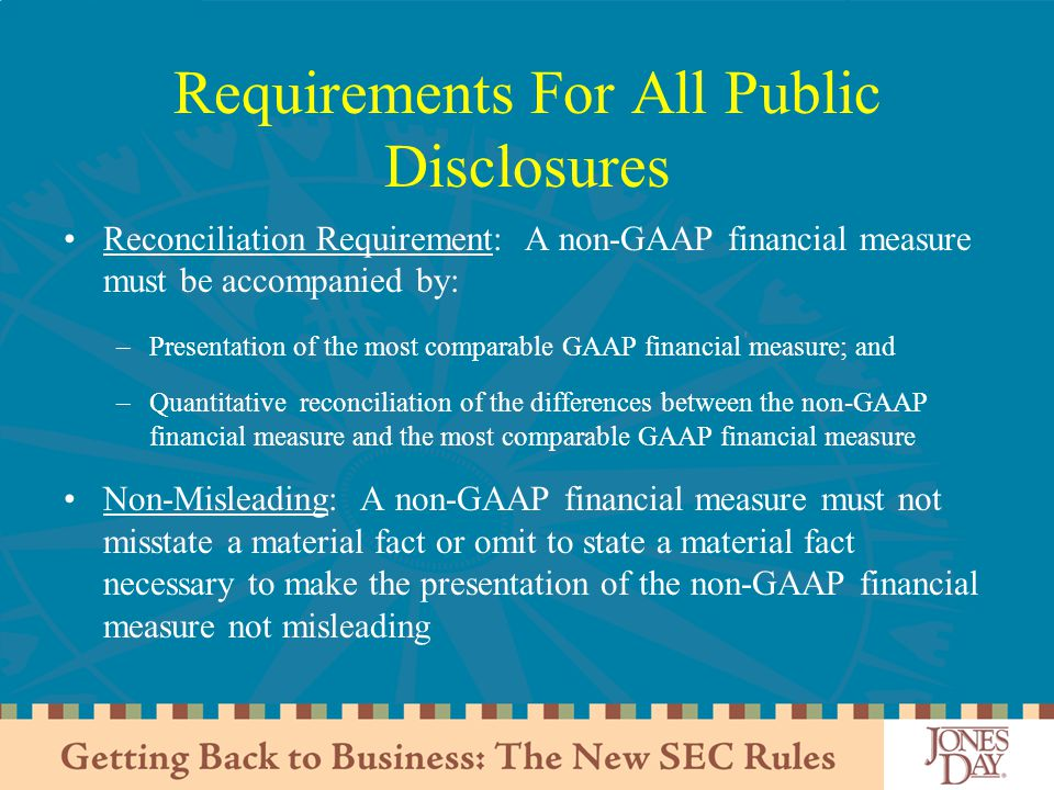 Requirements For All Public Disclosures