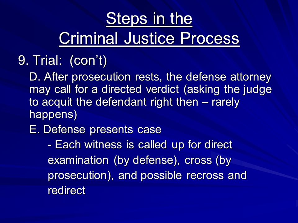 Steps in the Criminal Justice Process