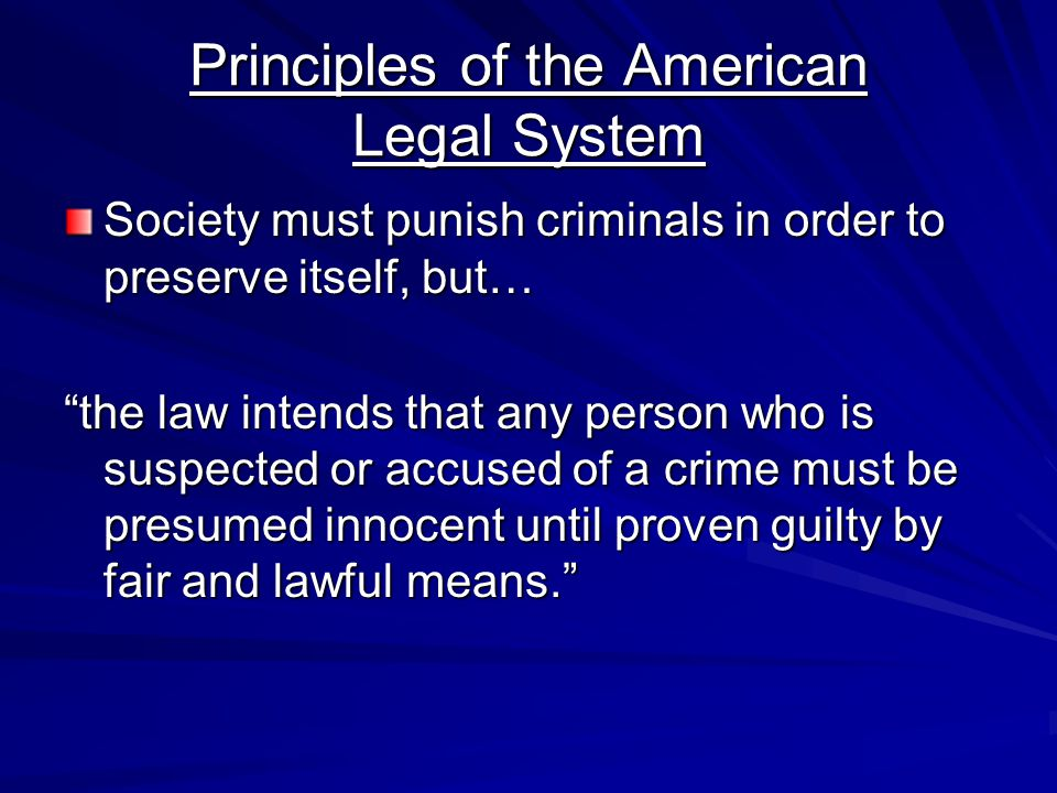 Principles of the American Legal System