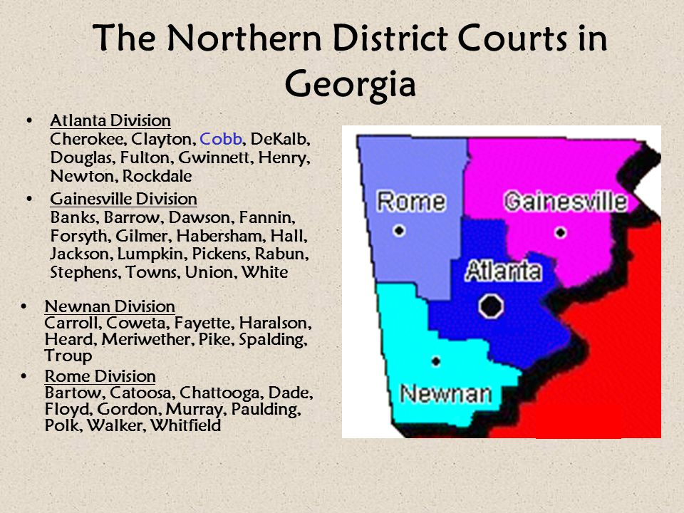 The Northern District Courts in Georgia
