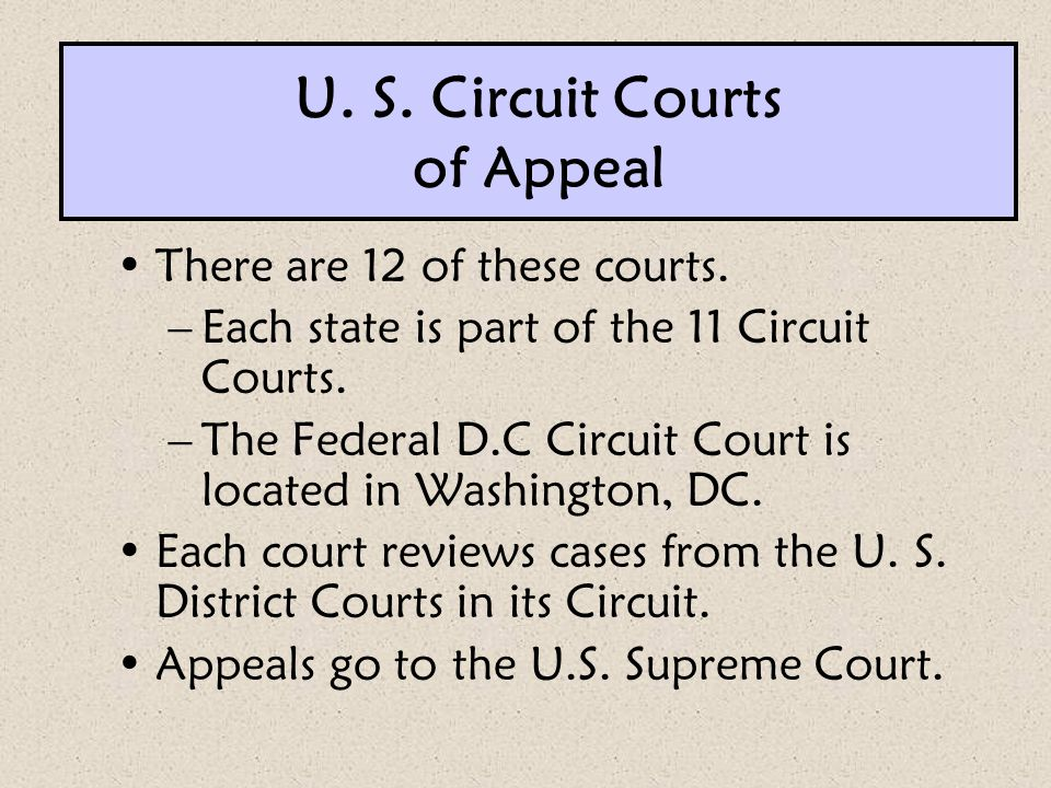 U. S. Circuit Courts of Appeal