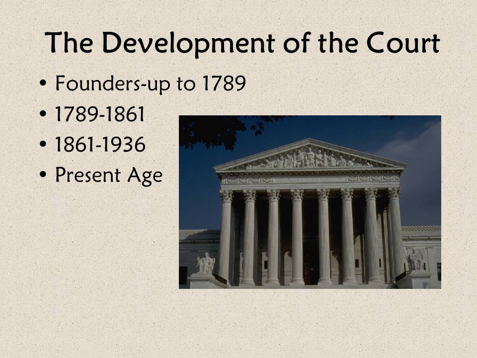 The Development of the Court