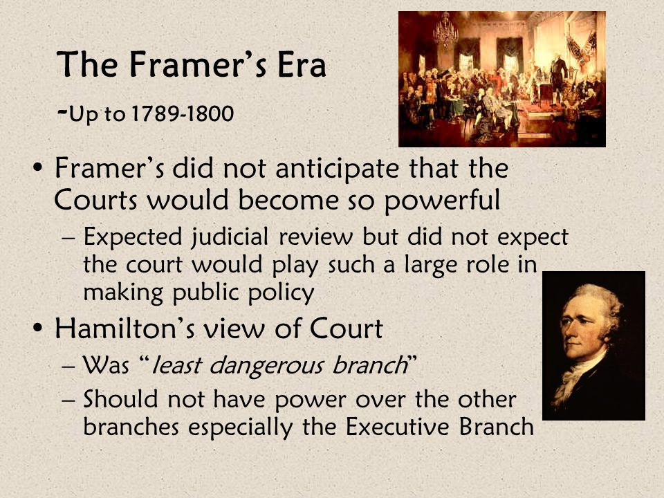 The Framer's Era -Up to 1789-1800