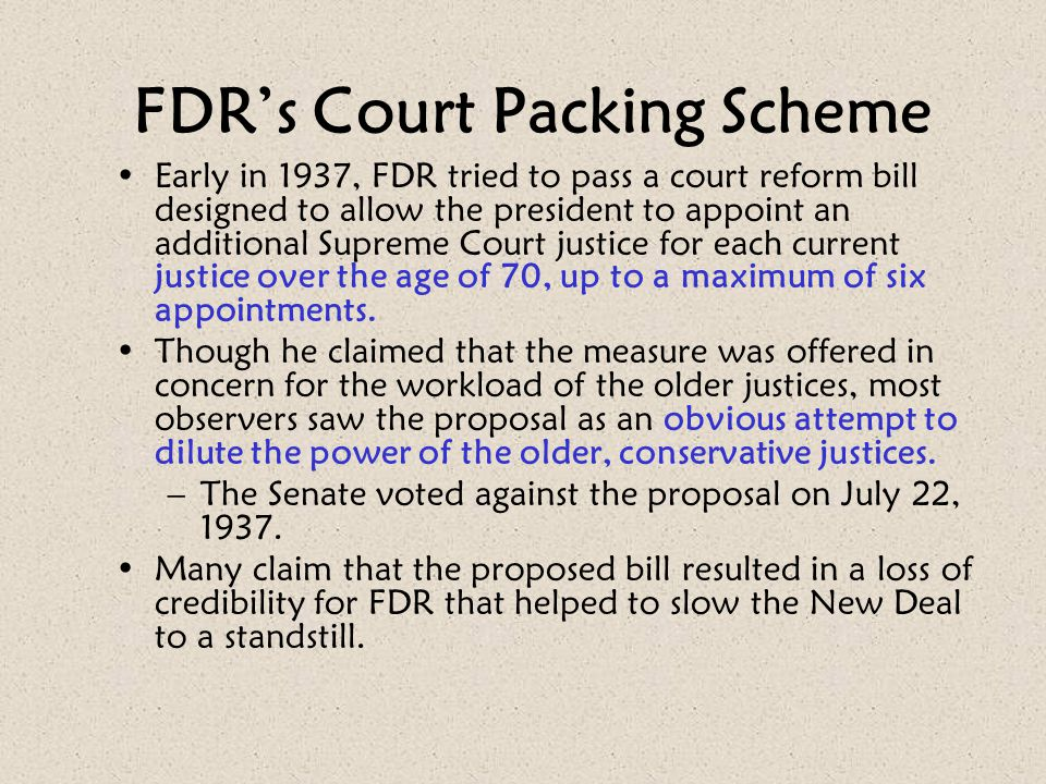 FDR's Court Packing Scheme