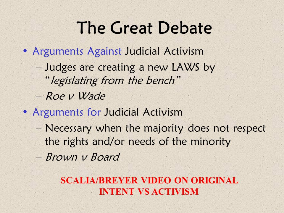 SCALIA/BREYER VIDEO ON ORIGINAL INTENT VS ACTIVISM
