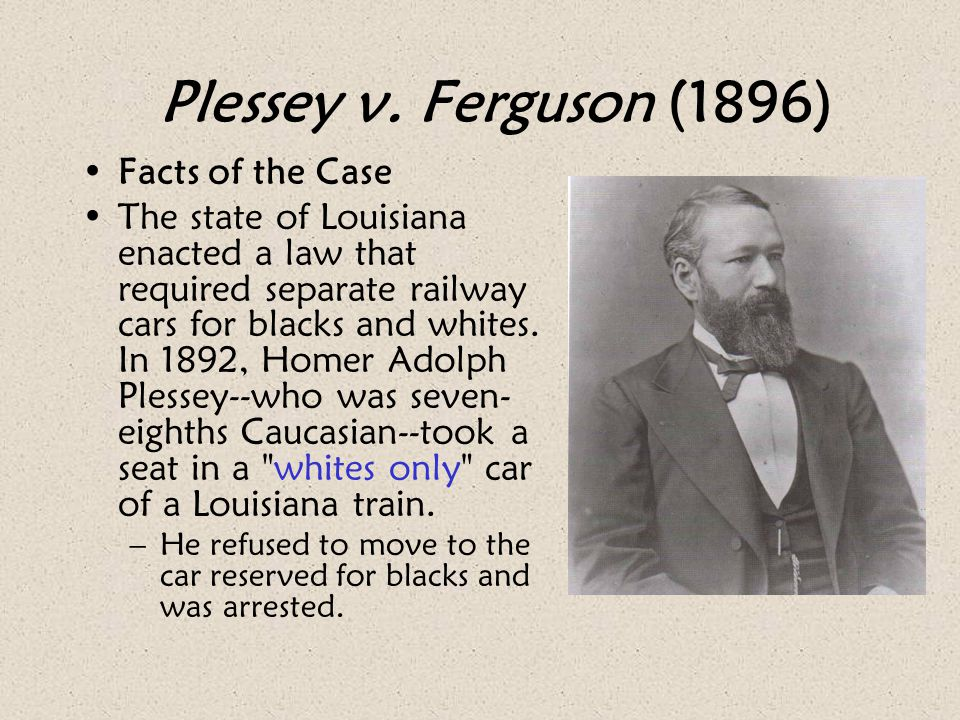 Plessey v. Ferguson (1896) Facts of the Case