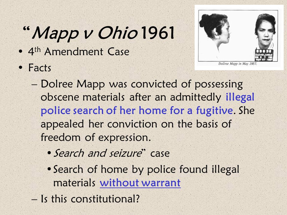 Mapp v Ohio 1961 4th Amendment Case Facts