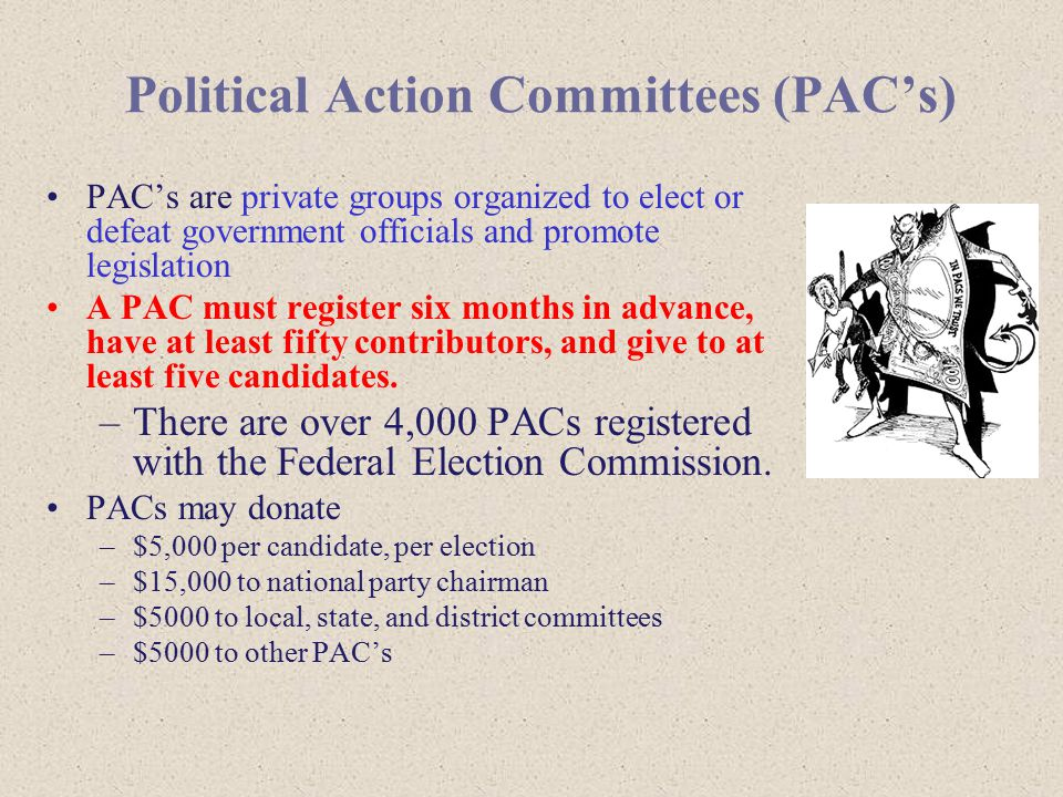 Political Action Committees (PAC's)