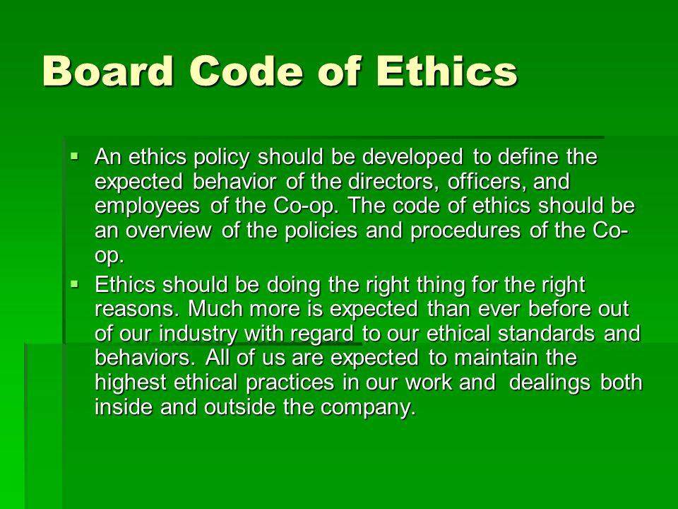 Board Code of Ethics