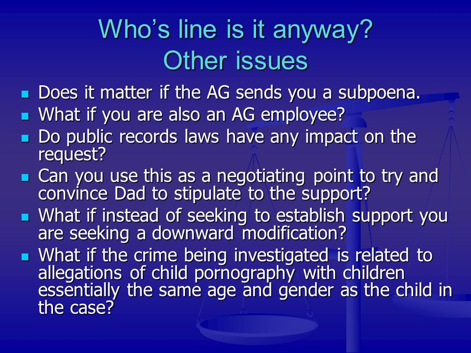 Who's line is it anyway Other issues