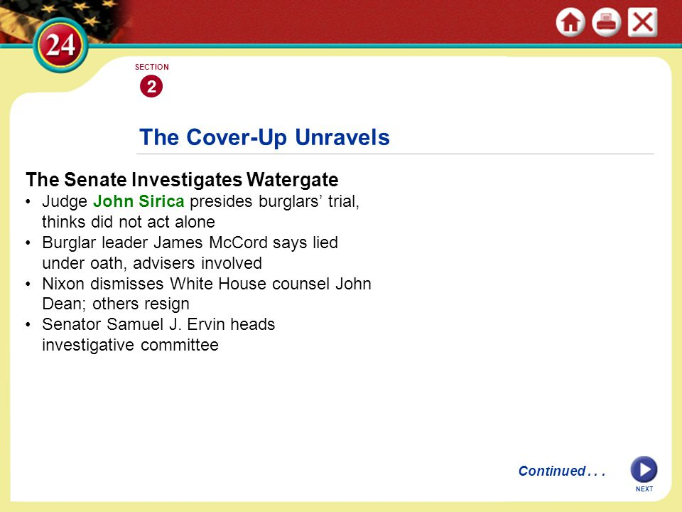 The Cover-Up Unravels The Senate Investigates Watergate 2