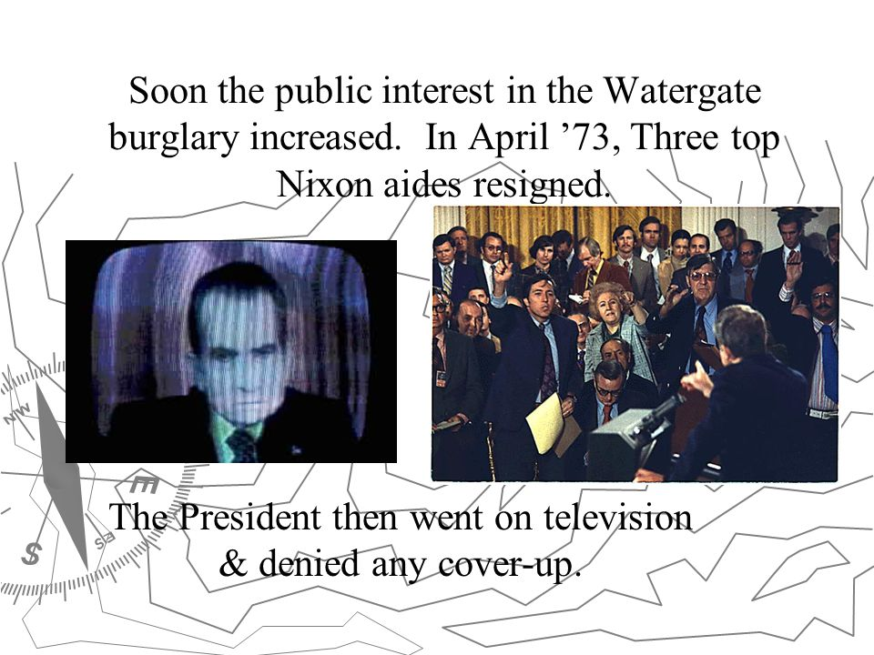 The President then went on television & denied any cover-up.