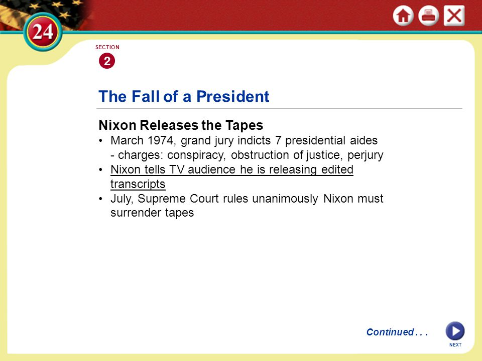 The Fall of a President Nixon Releases the Tapes 2