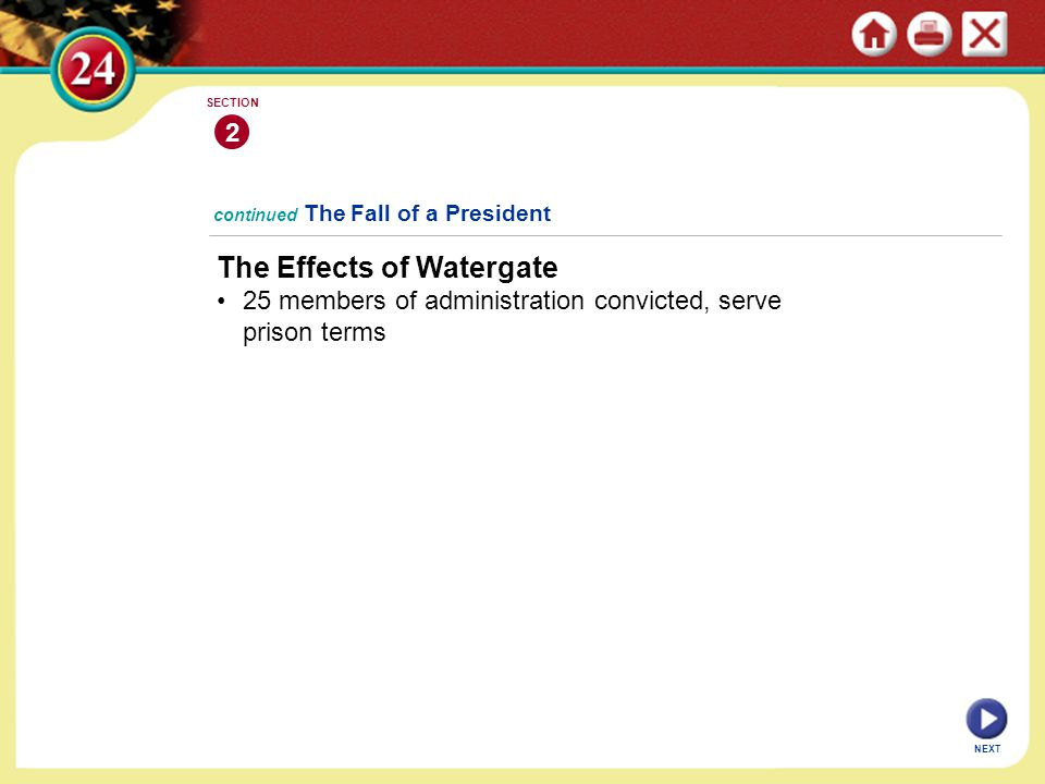 The Effects of Watergate