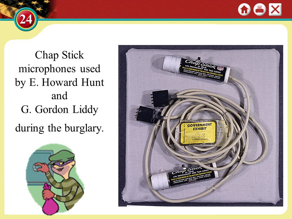 Chap Stick microphones used by E. Howard Hunt and G