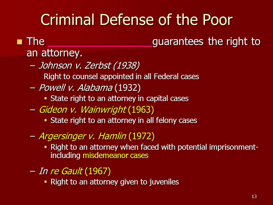 Criminal Defense of the Poor