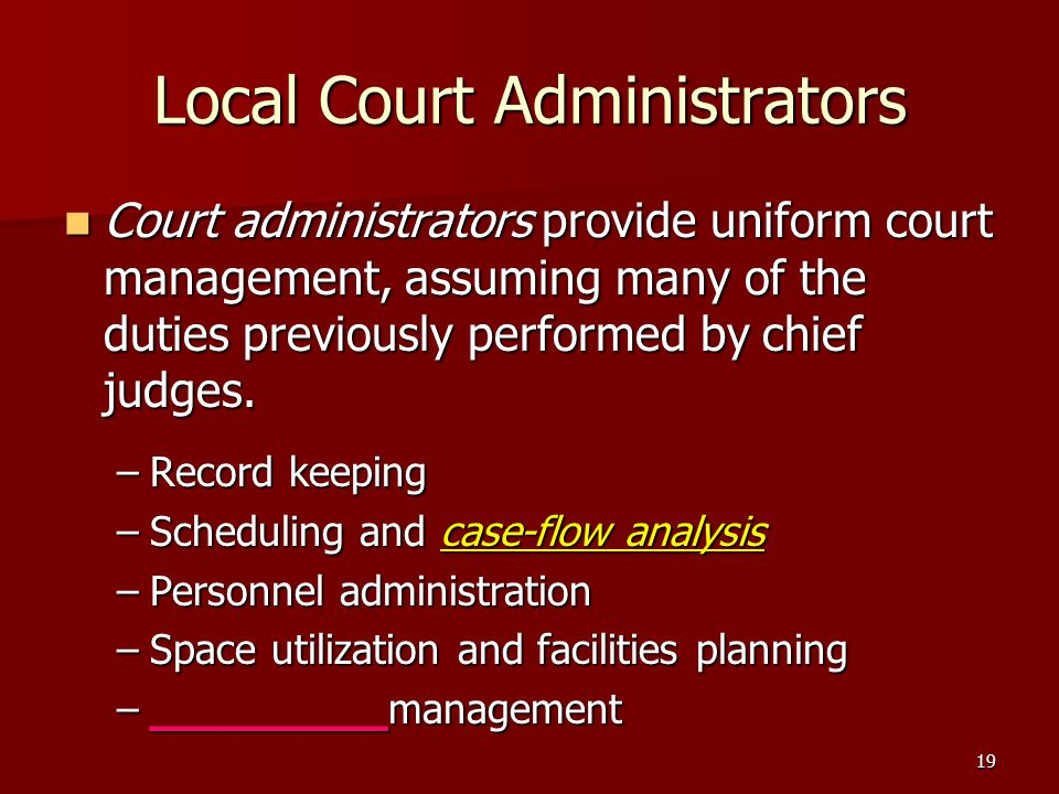 Local Court Administrators
