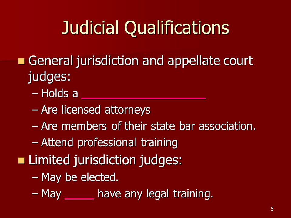 Judicial Qualifications