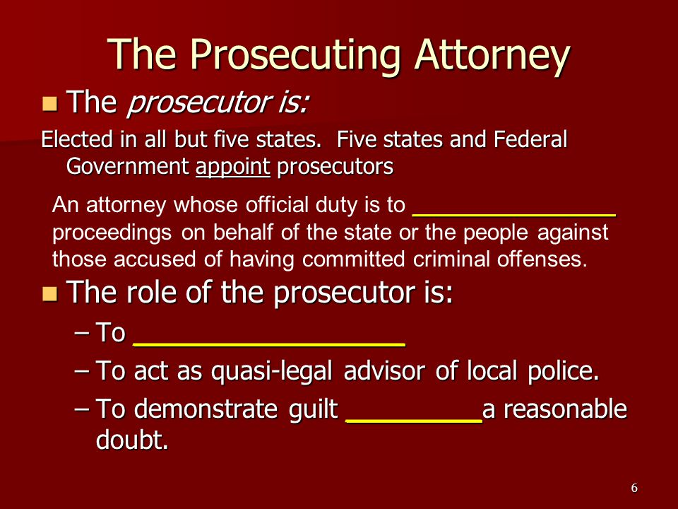 The Prosecuting Attorney