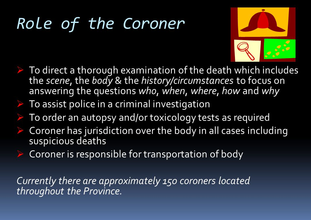 Role of the Coroner