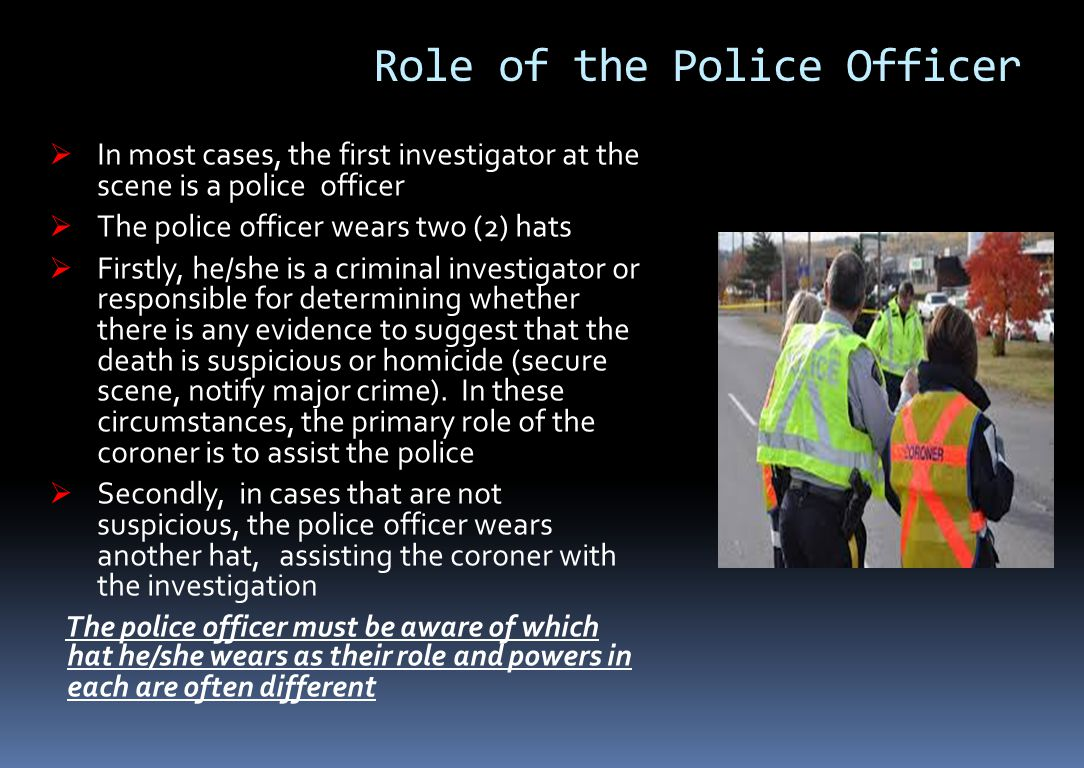 Role of the Police Officer