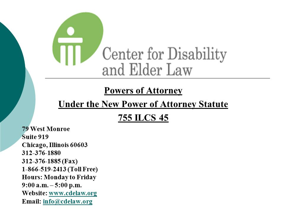 Under the New Power of Attorney Statute