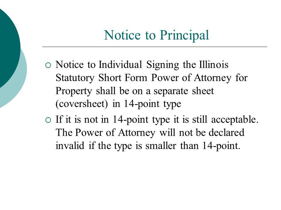 Notice to Principal