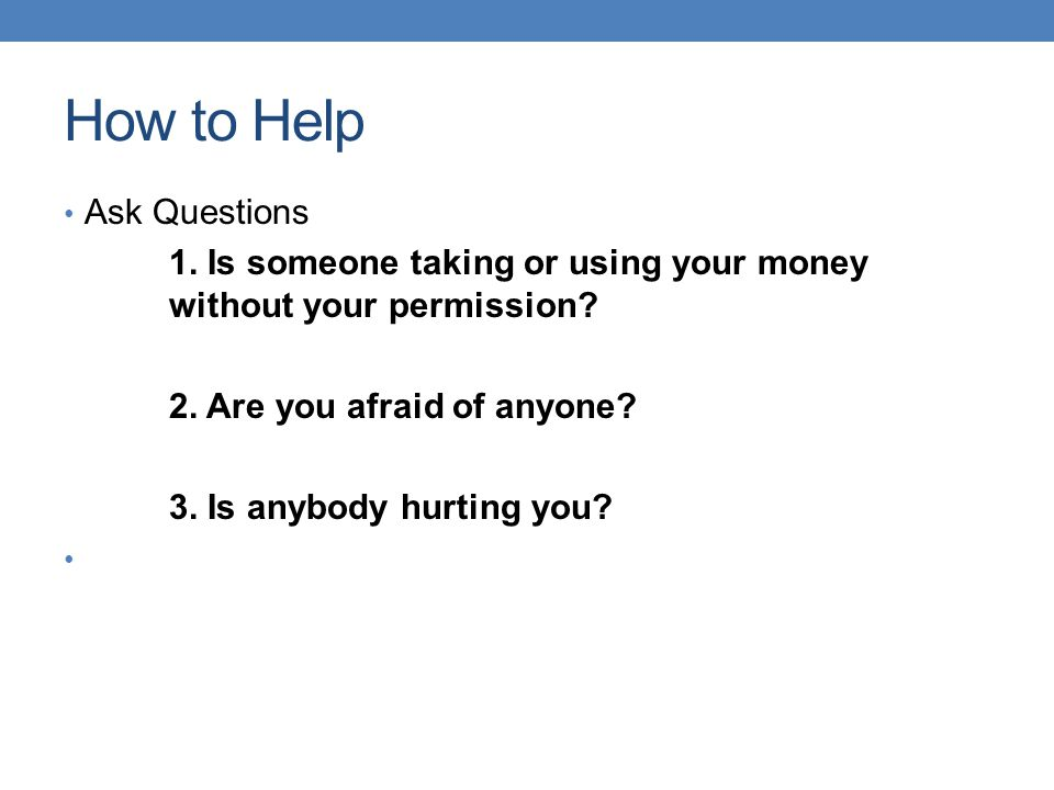 How to Help Ask Questions