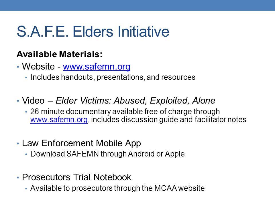 S.A.F.E. Elders Initiative