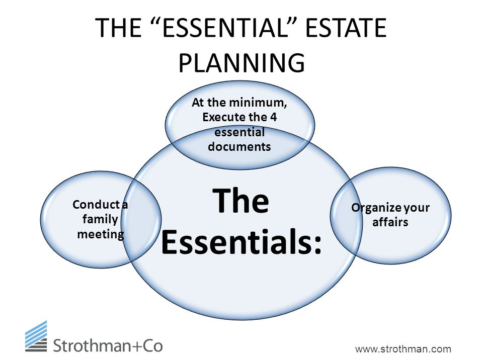 THE ESSENTIAL ESTATE PLANNING