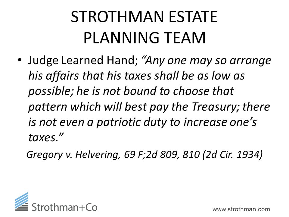 STROTHMAN ESTATE PLANNING TEAM