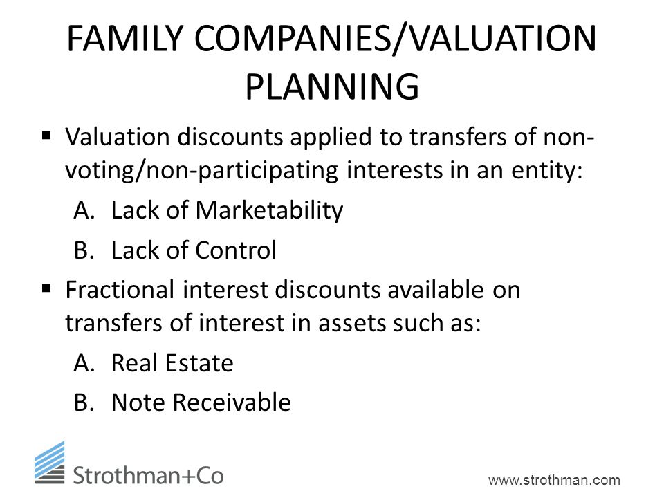 FAMILY COMPANIES/VALUATION PLANNING