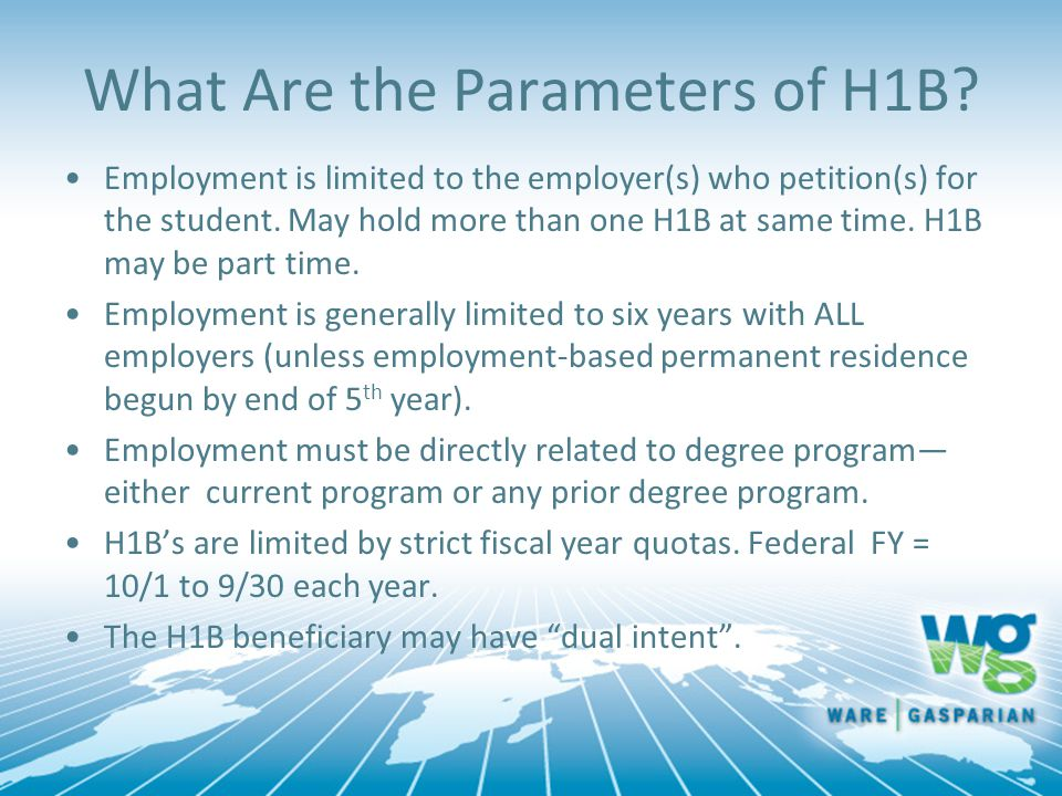 What Are the Parameters of H1B