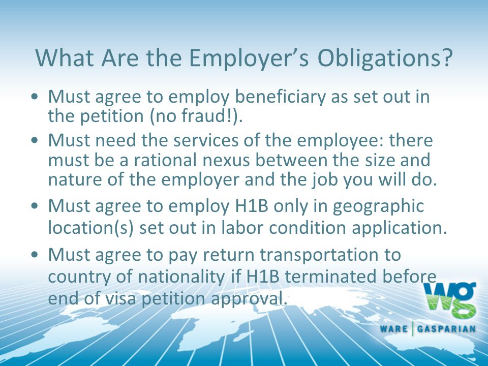 What Are the Employer's Obligations