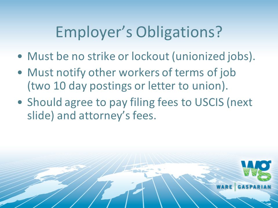 Employer's Obligations