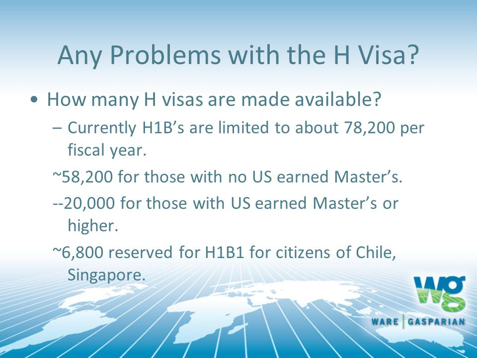 Any Problems with the H Visa