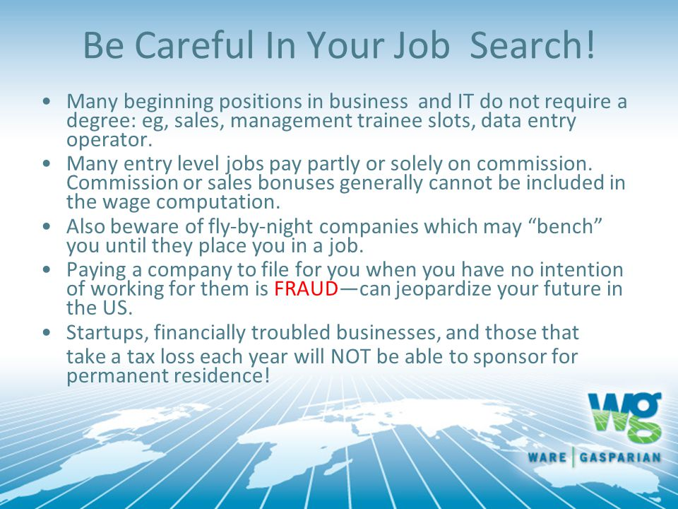 Be Careful In Your Job Search!