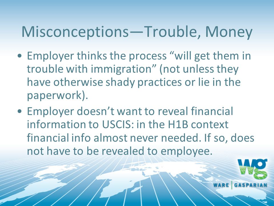 Misconceptions—Trouble, Money