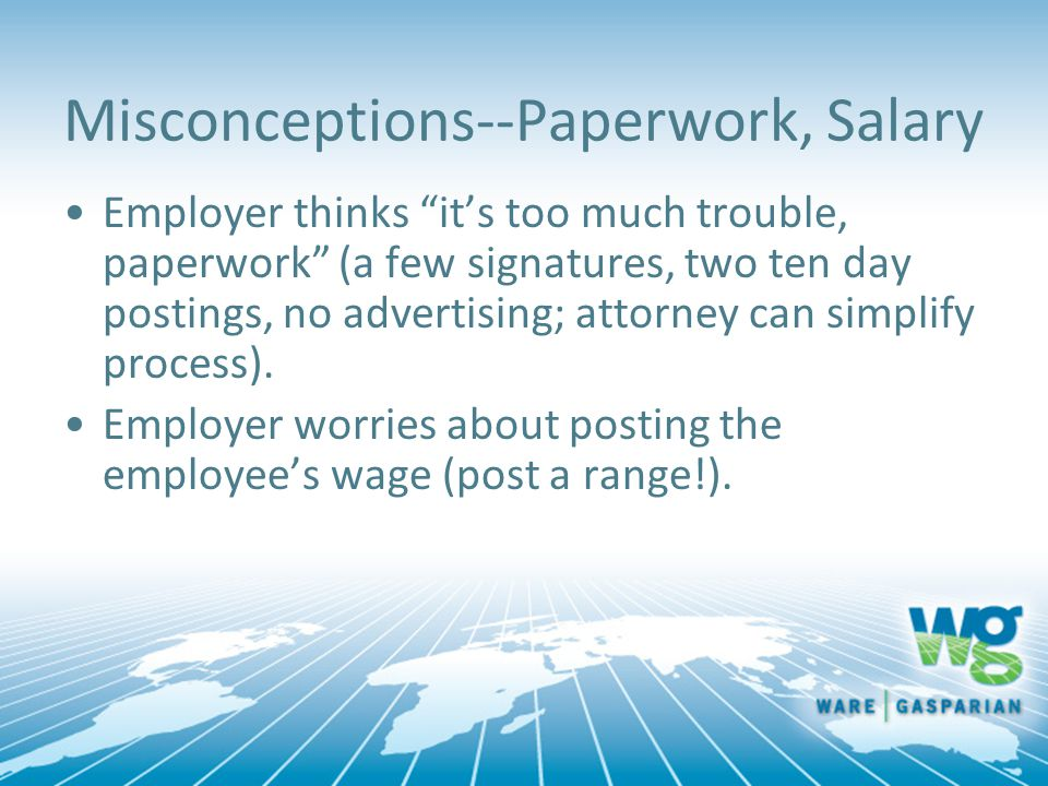Misconceptions--Paperwork, Salary