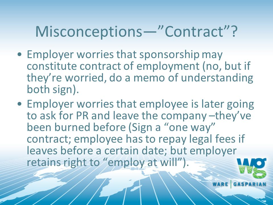 Misconceptions— Contract