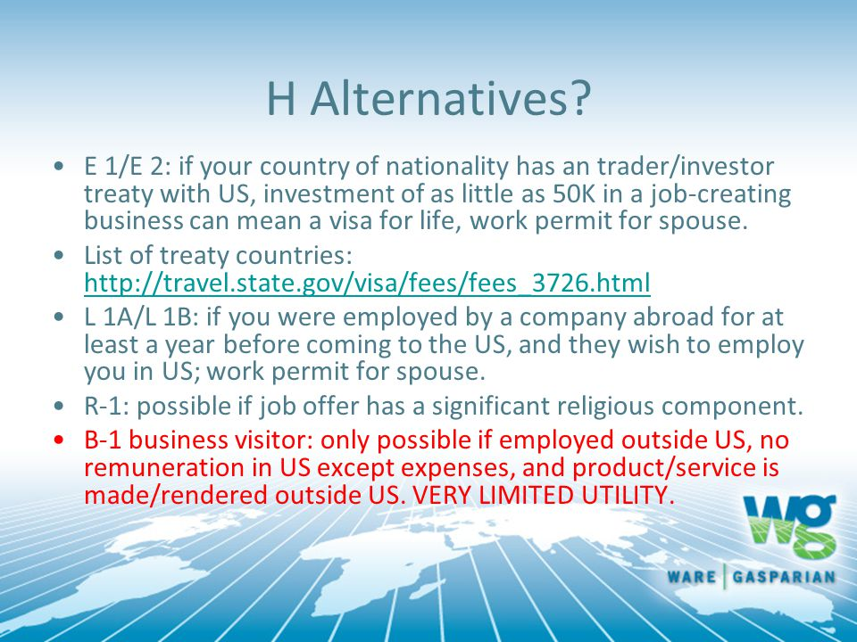 H Alternatives