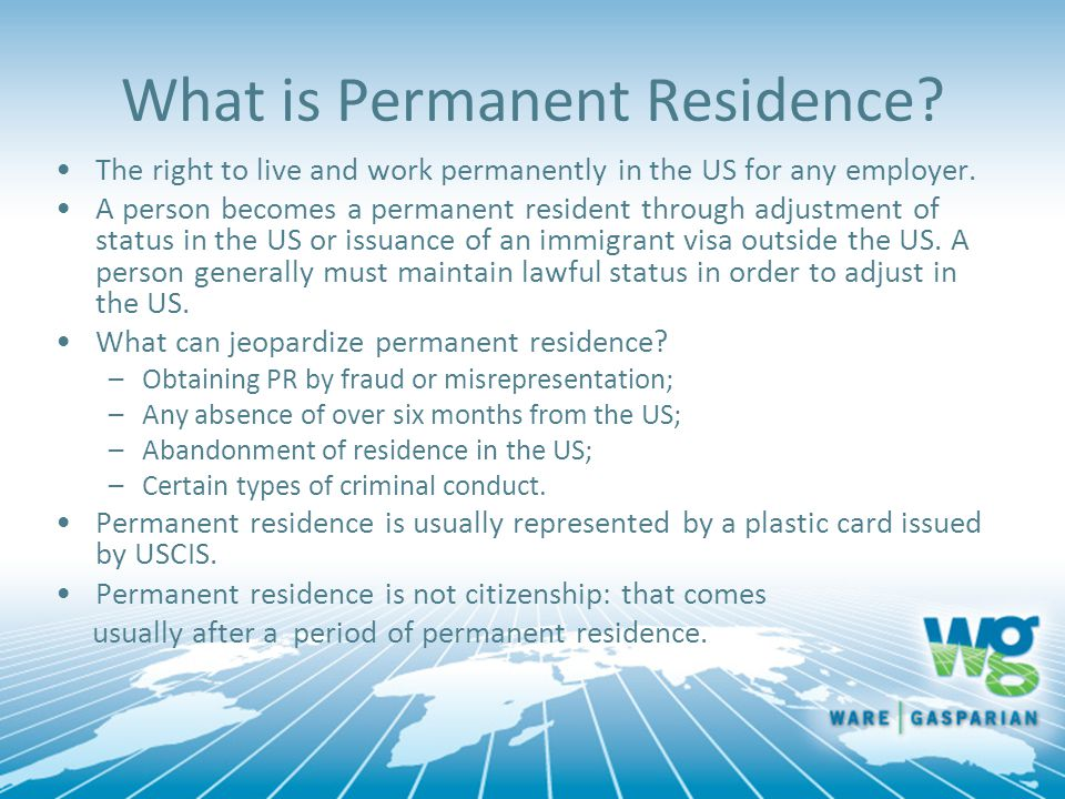 What is Permanent Residence