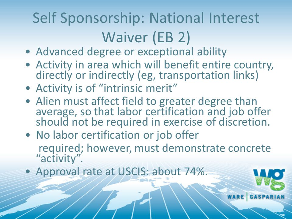 Self Sponsorship: National Interest Waiver (EB 2)