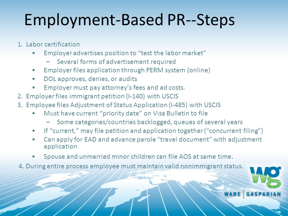 Employment-Based PR--Steps