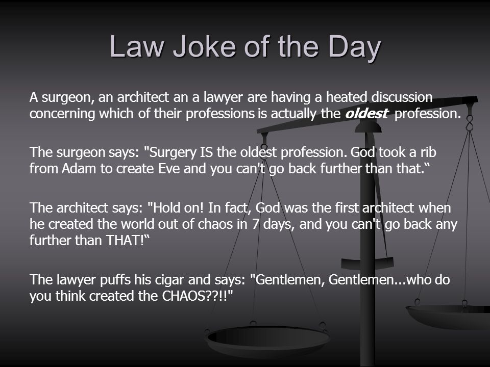 Law Joke of the Day