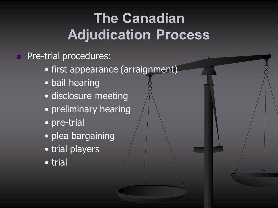The Canadian Adjudication Process