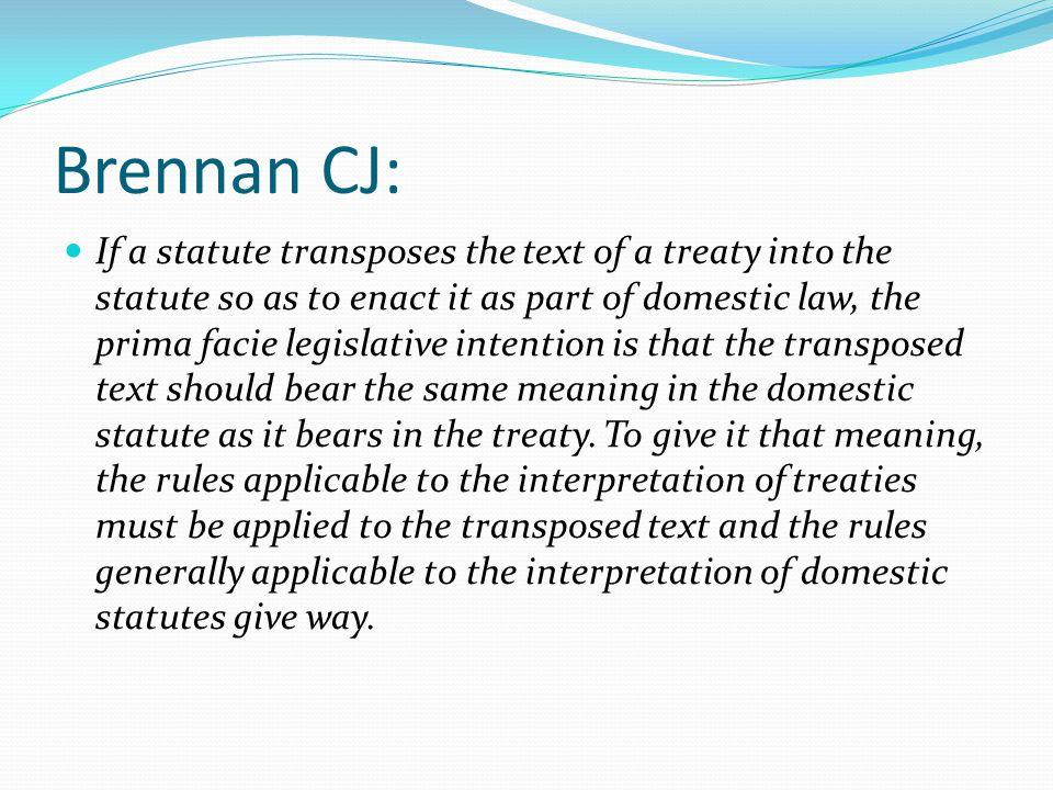 Brennan CJ: